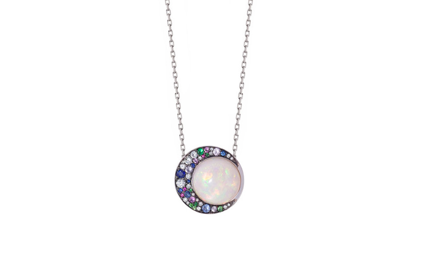 Opal Eclipse Pendant from the Tilsam Collection