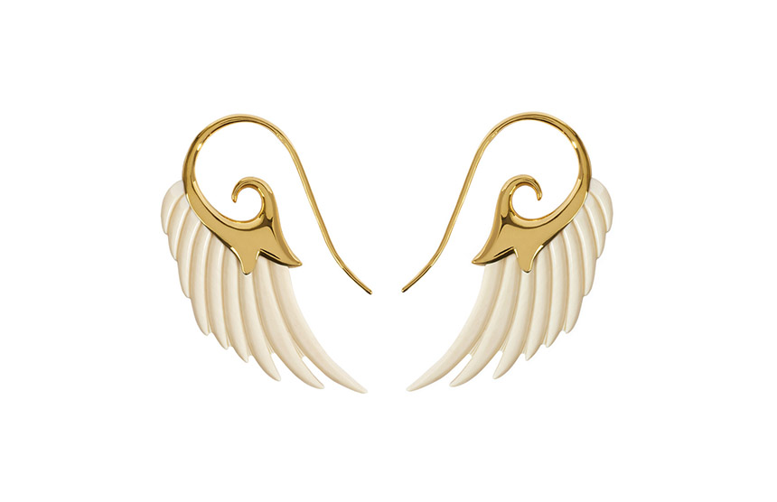 Mammoth Wing Earrings from the Fly Me To The Moon Collection
