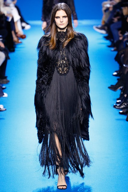 Sometimes, more elaborate pieces are designed to elicit a mood for the show. Pictured: Elie Saab Autumn/Winter '16
