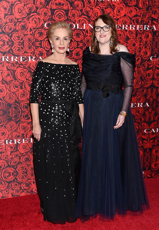 Carolina with Harper's Bazaar Editor-in-Chief Glenda Bailey / Credit: Evan Agostini/Invision/AP