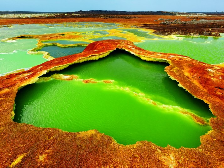 The Dallol volcanic crater in Ethiopia