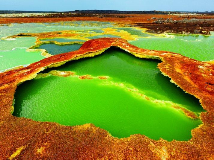 The Dallol volcanic crater in Ethiopia