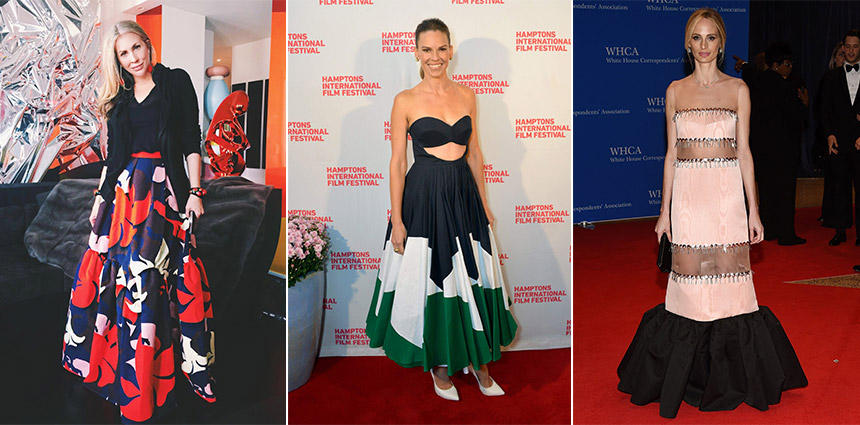 L-R: Carmen Busquets, Hilary Swank and Lauren Santo Domingo
