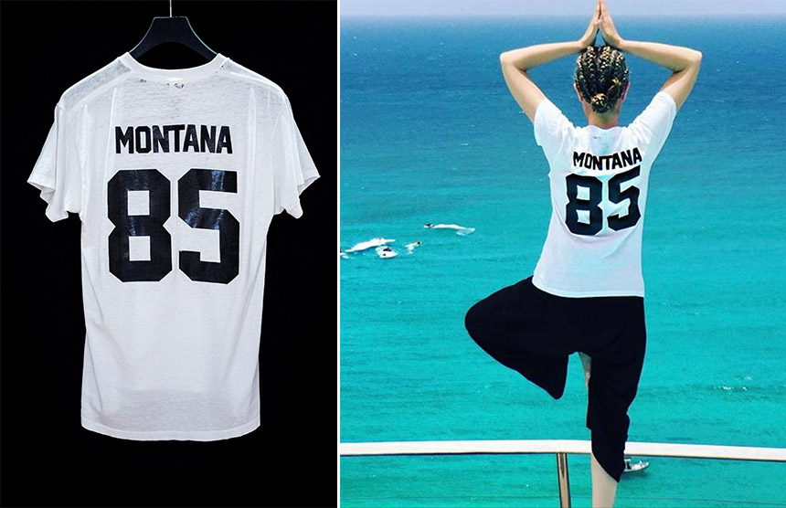 Carmen in St Barths wearing the Montana 85
