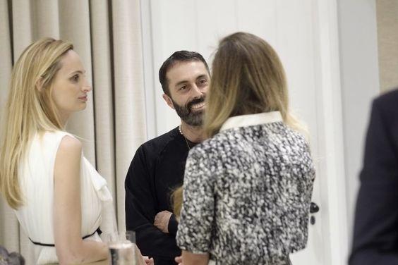 Lauren Santo Domingo with Giambattista Valli / Photo: vogue.it