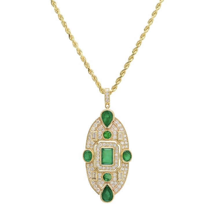 KC SUKAMATO Fideli Pendant featuring Natural Colombian Emeralds £9,003