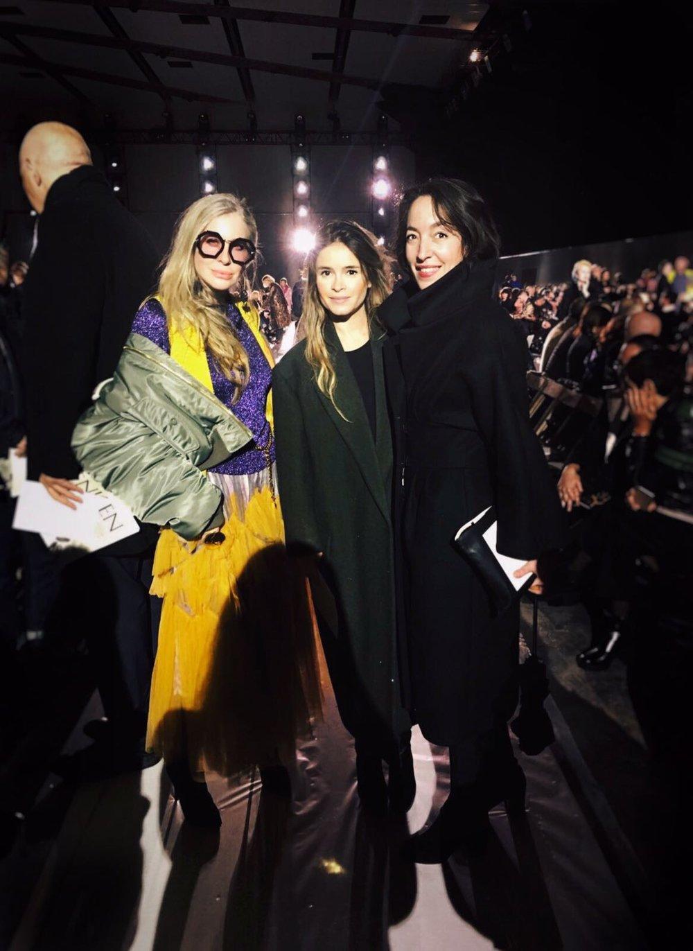 Carmen with Mira Duma and Pamela Golbin
