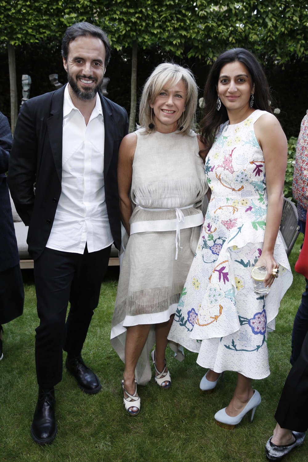 José Neves of Farfetch, former BFC Fashion Trust corporate partner, with the Fashion Trust's Sian Westerman and Megha Mittal / Photo: Darren Gerrish