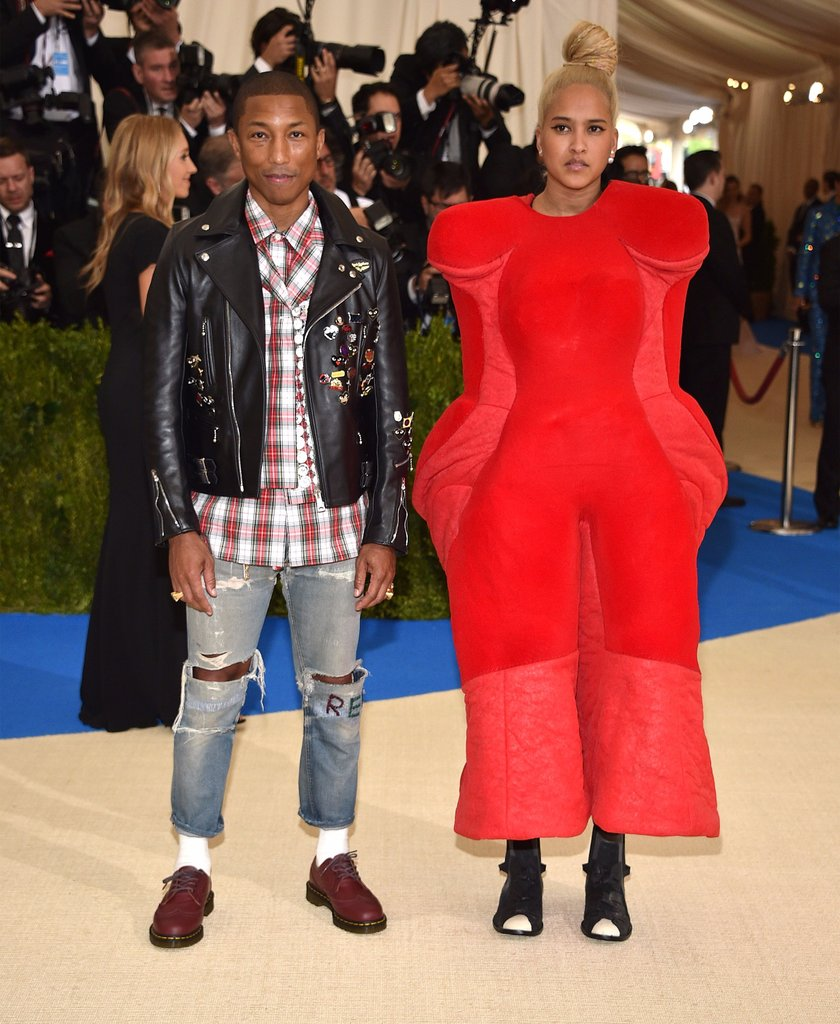 Pharrell Williams & Helen Lasichanh / Photo: Getty/Keven Mazur/popsugar.co.uk
