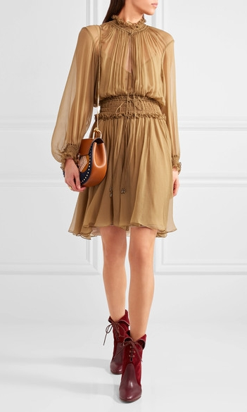 CHLOÉ Smocked Mini Dress £1,760