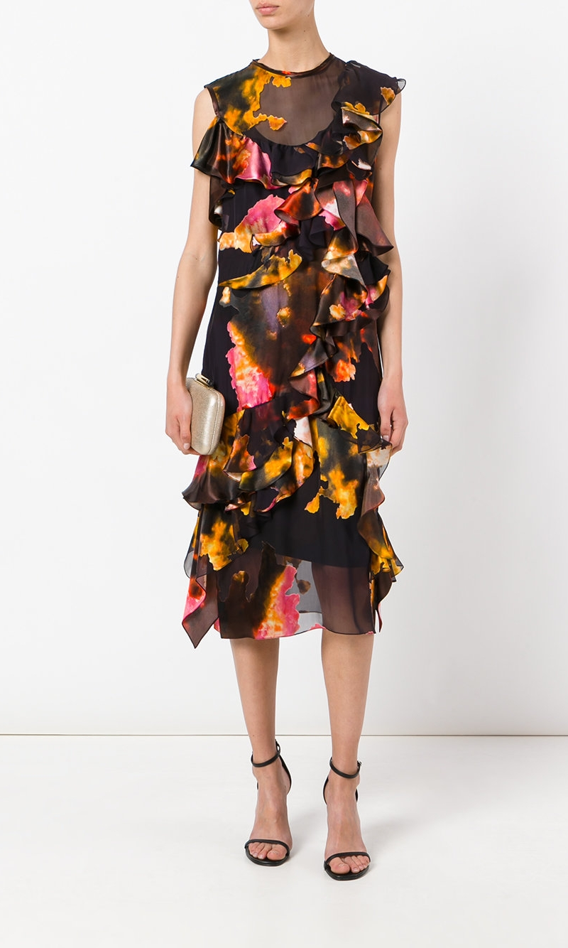 GIVENCHY Silk Ruffle Dress £3,430