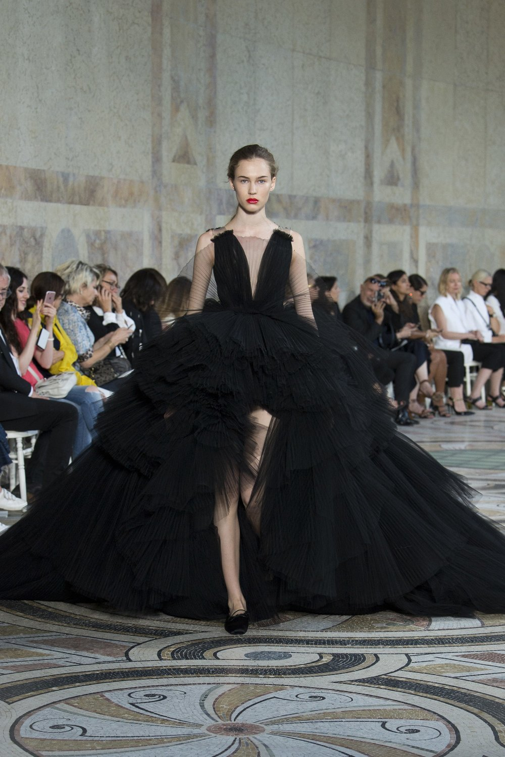 The tulle super-gown in black for those who prefer drama over sweetness.