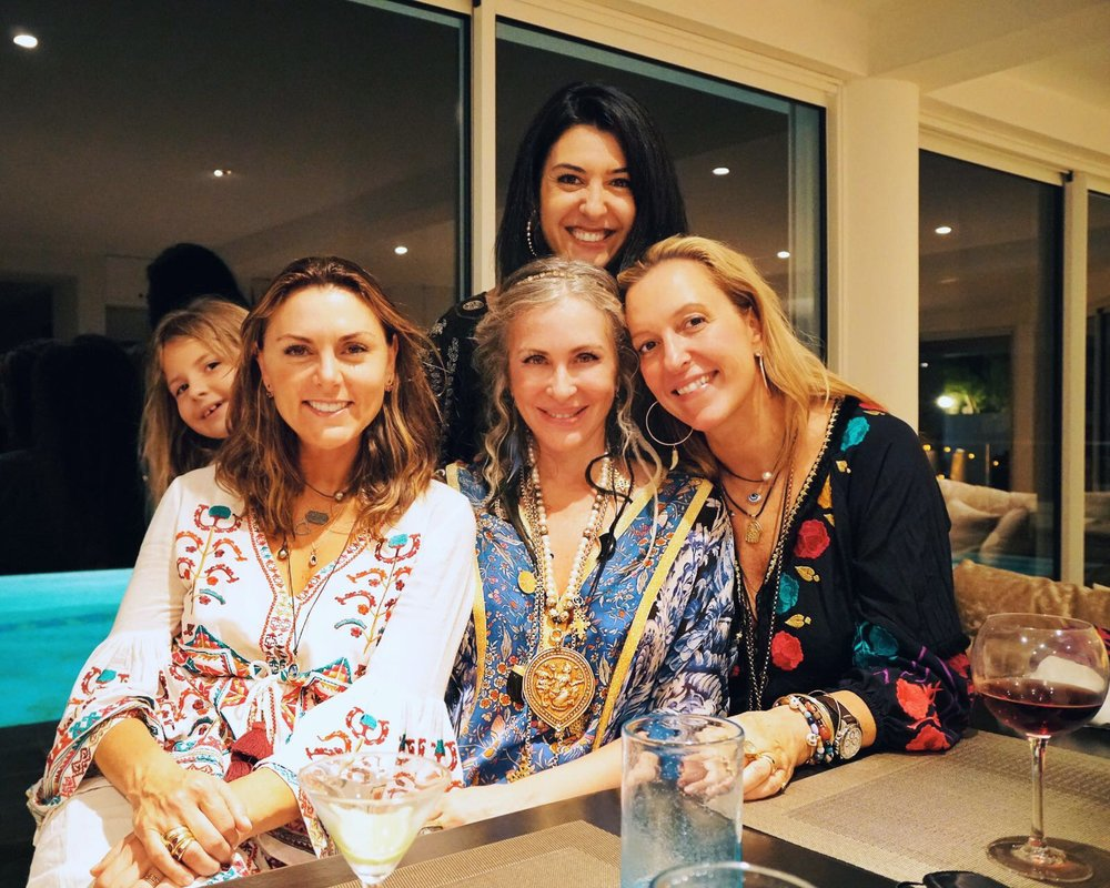 Carmen pictured with Figue's Sabina Schlumberger and Stephanie von Watzdorf and Costa Rica Fashion Summit CEO and founder Andrea Somma–Trejos.