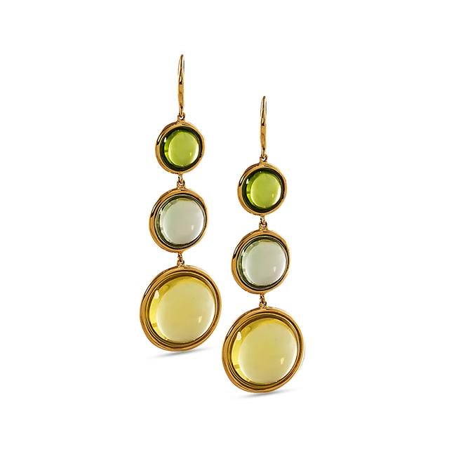 GOSHWARA Mischief Collection Disc Earrings with Quartz, Prasiolite & Peridot £1,750