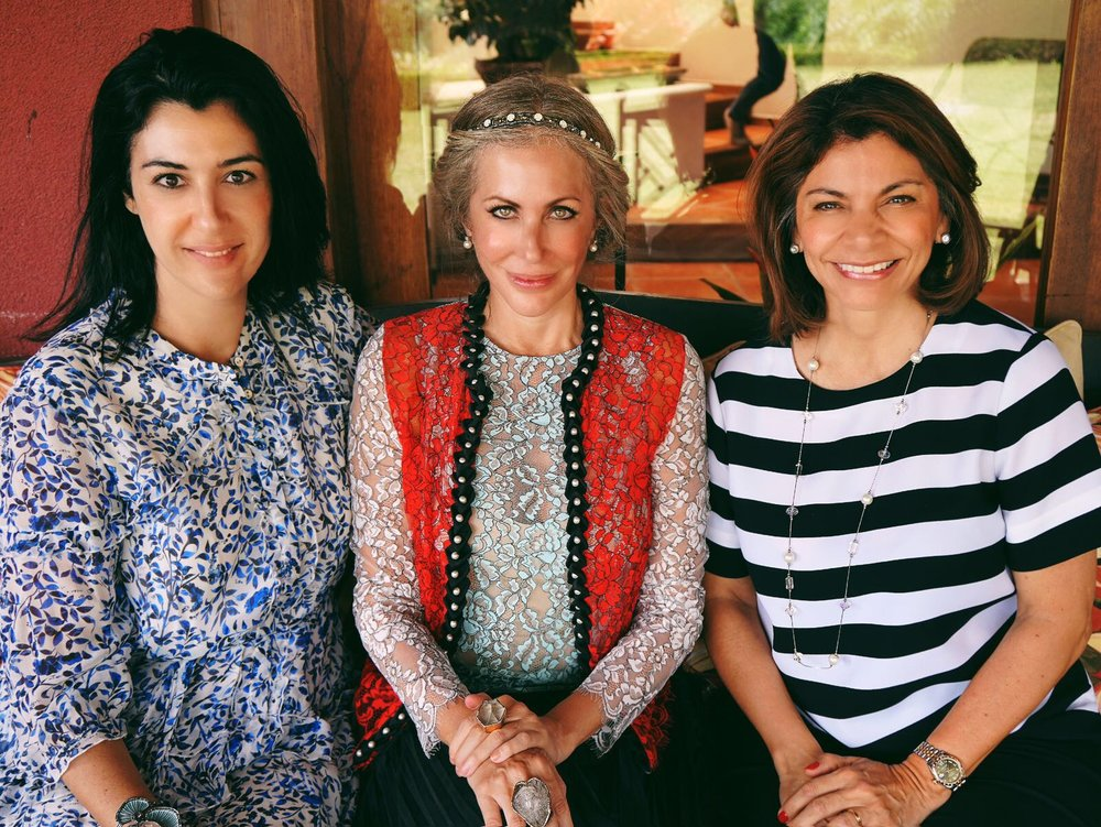 Carmen pictured with Costa Rica Fashion Summit CEO and founder Andrea Somma-Trejos and former Costa Rican president Laura Chinchilla Miranda.