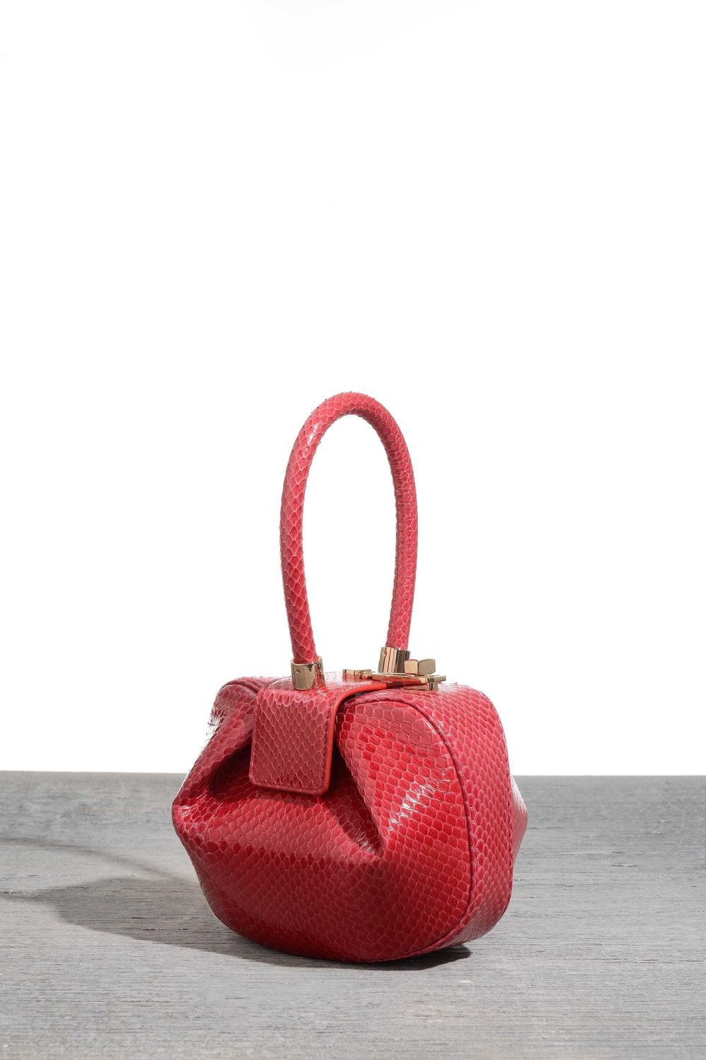 Demi bag in red snake, $2,495, at Net-a-Porter