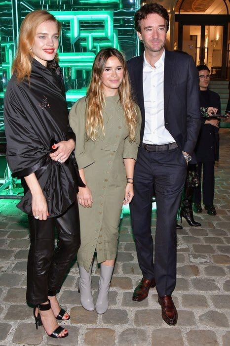 Attendees Natalia Vodaniova and Antoine Arnault with Mira Duma