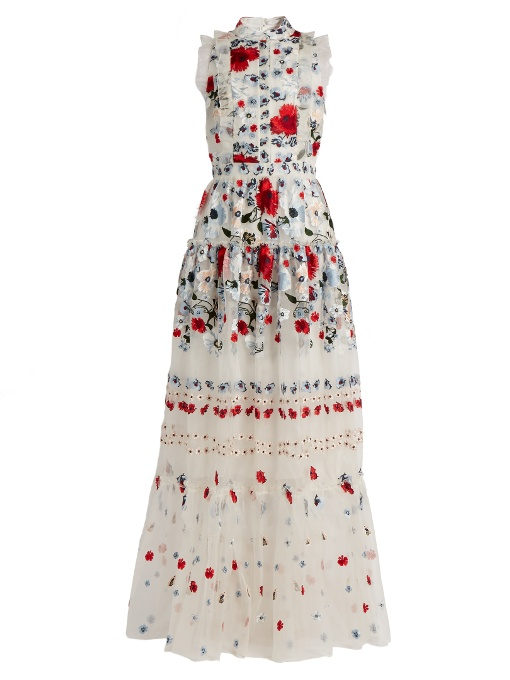 ERDEM   Embroidered Silk Organza Gown  Borrow $450 / Retail $6,125