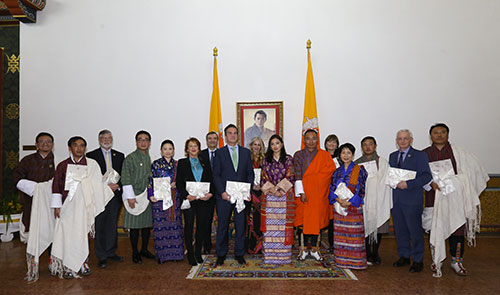 Carmen in Bhutan with the Bhutan Foundation and WWF where Her Majesty the Gyaltsuen announced the $43m funding initiative.