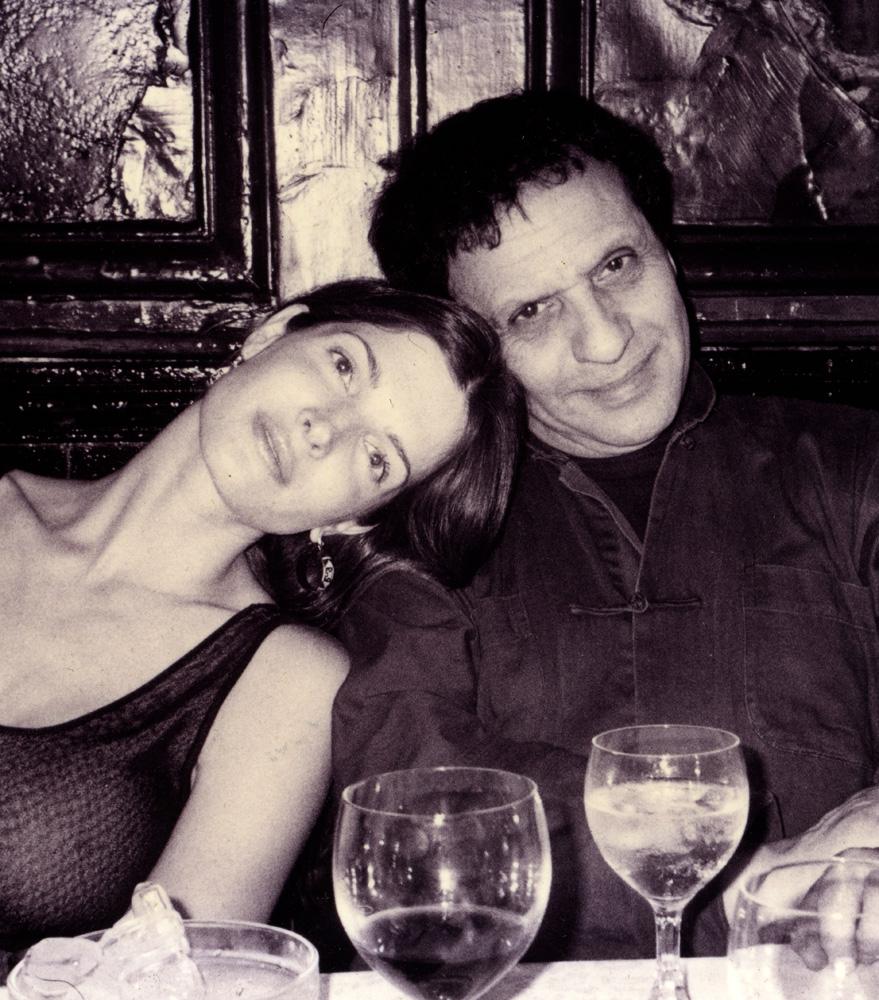 Azzedine Alaia with Stephanie Seymour.