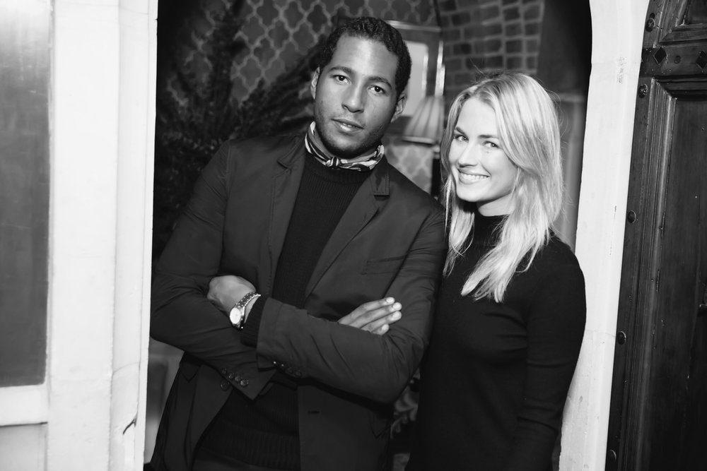 Company co-founders Hassan Pierre and Amanda Hearst.