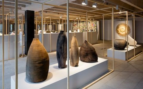 Ernst Gamperl's 2017 prize winning tree sculptures.