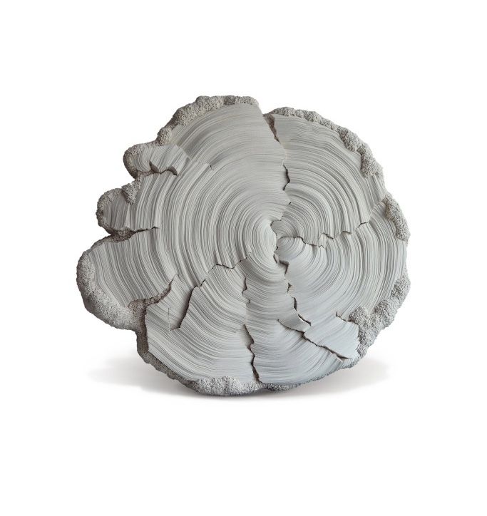Simone Pheulpin's layered sculpture.