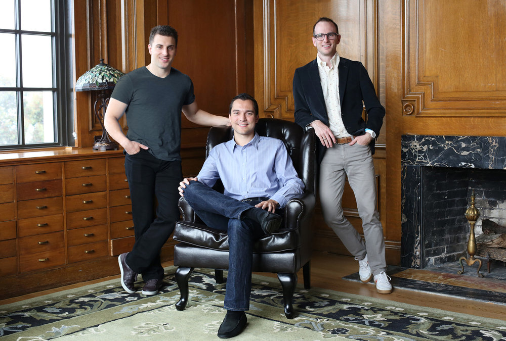 Airbnb founders Brian Chesky, Nathan Blecharczyk and Joe Gebbia.