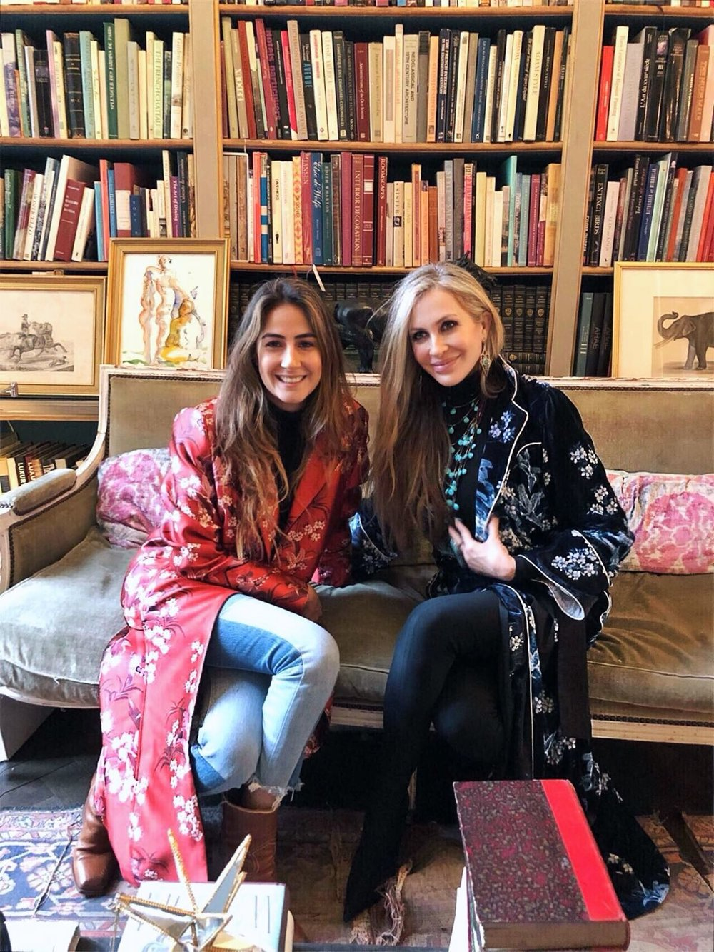 Each wrapped in one of the designer's AW18 robes, Carmen caught up with fellow Latina Johanna Ortiz in Paris.