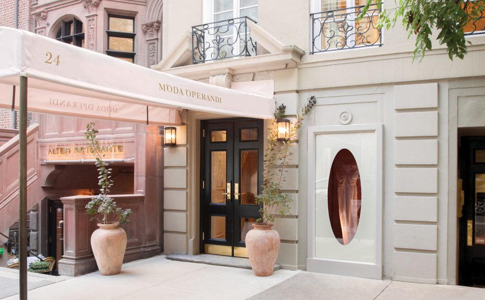 Moda Operandi's private boutique at 24 East 64th Street, New York.
