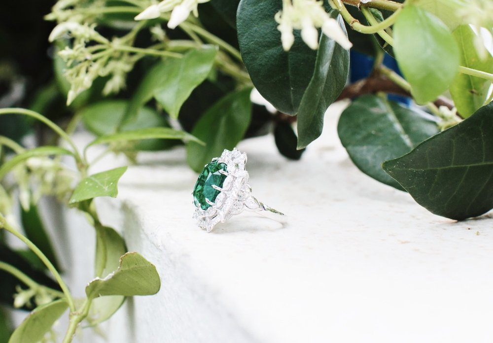 A ring from Chopard's Green Carpet Collection / Photo: The Professional Jeweller