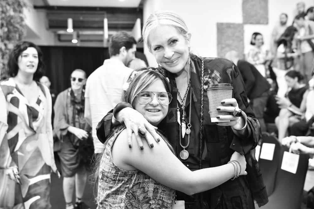 Designer Isabelle Springmuhl with Carmen at Omina 2018.