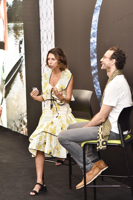 Jewelry designer Paula Mendoza and sustainable financier Alejandro Calderon.