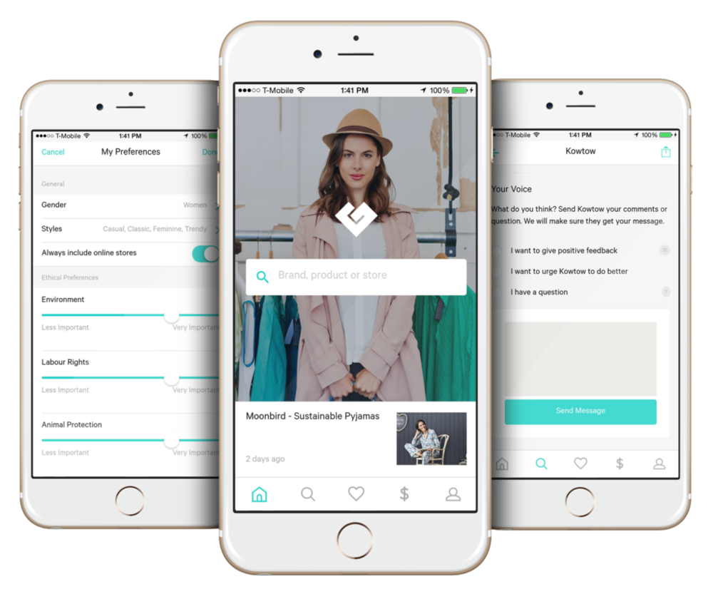 Sustainable fashion app