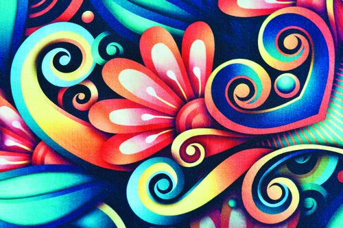High-resolution color patterns can be printed directly onto cotton using pigment inks rather than dyes to reduce the use of water and chemicals / Photo: Intech Digital.