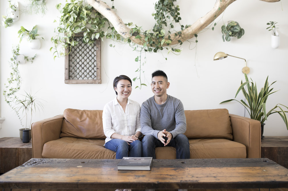 Anni Stromfeld and Jacob Xi , founders of Olive Wren.
