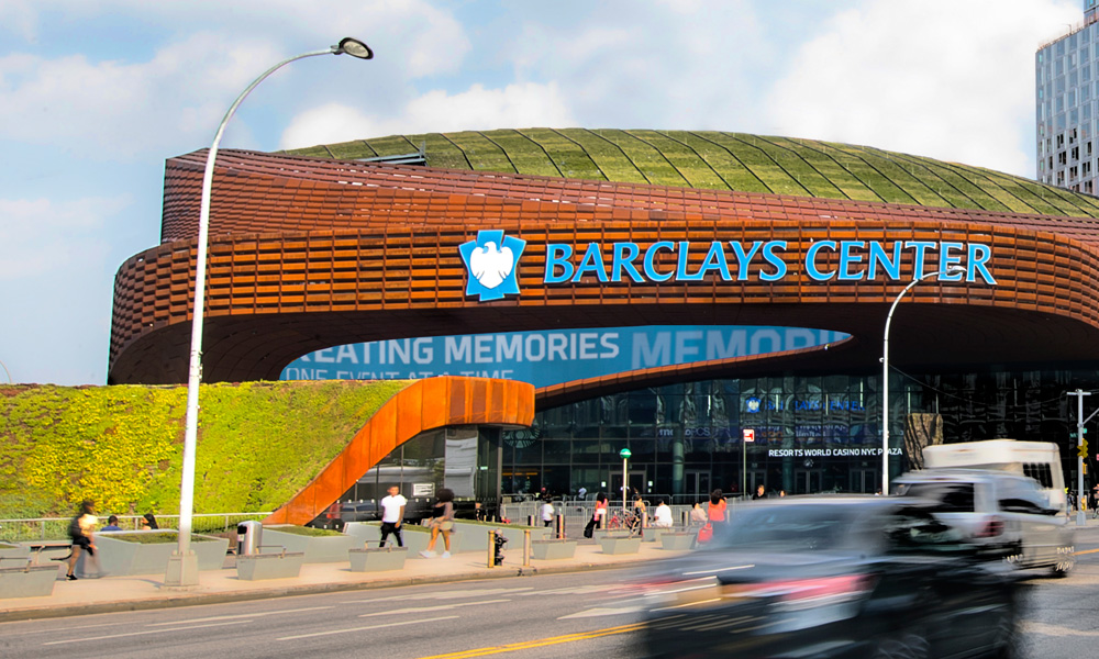 The Barclays Center in Brooklyn.