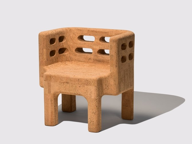 Cork chair by the Campana Brothers from their Sobriero collection.