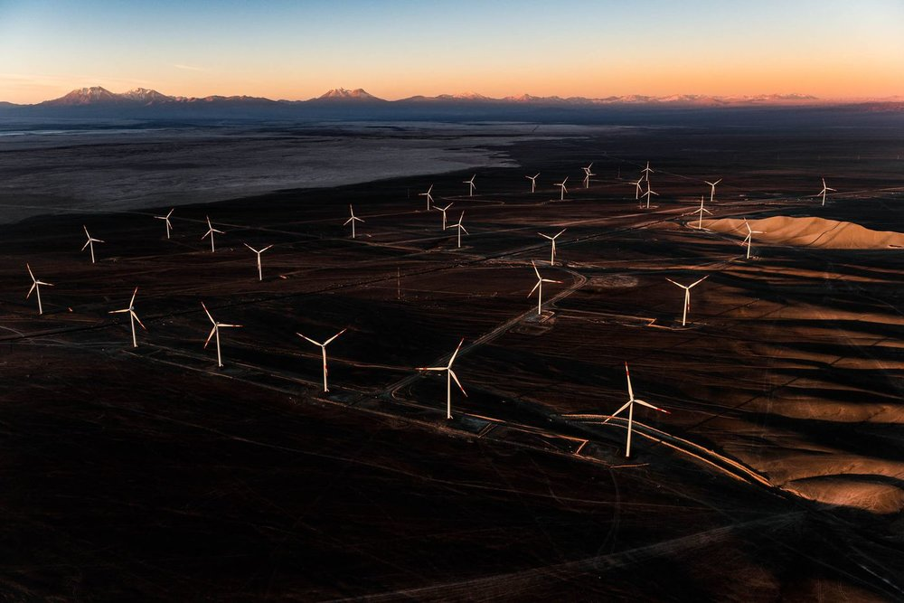 Enel Green Power's Sierra Gorda wind farm will supply 295 gigawatt-hours of electricity to the grid annually.