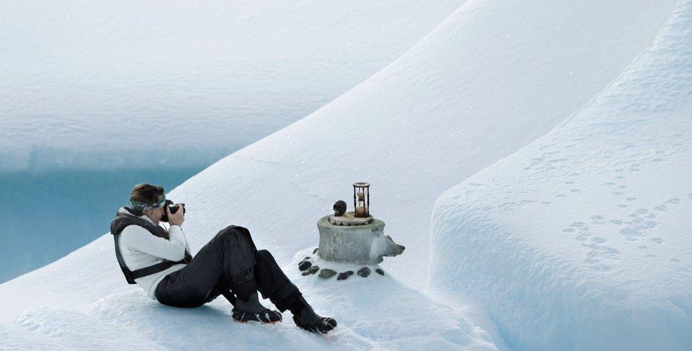 Anne de Carbuccia in Antarctica