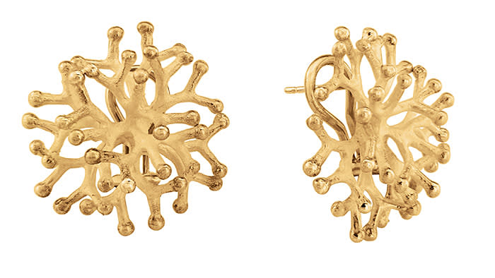 The Ayida Coral Earrings.