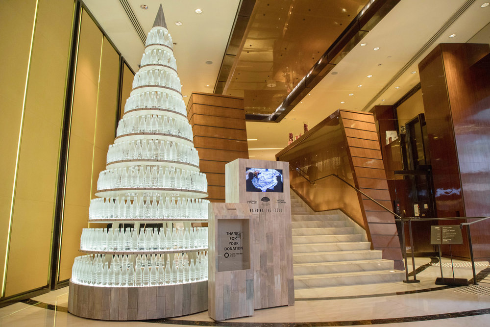 Last December's four-metre tall plastic bottle Christmas tree helped to raise funds for Hong Kong-based environmental charity Plastic Free Seas, which is dedicated to tackling the use of disposable plastic.