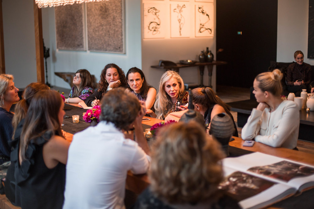 Carmen, Donna and members of the CoutureLab Coalition gather to discuss the aims of the network / Photo: Charlie Johnson.