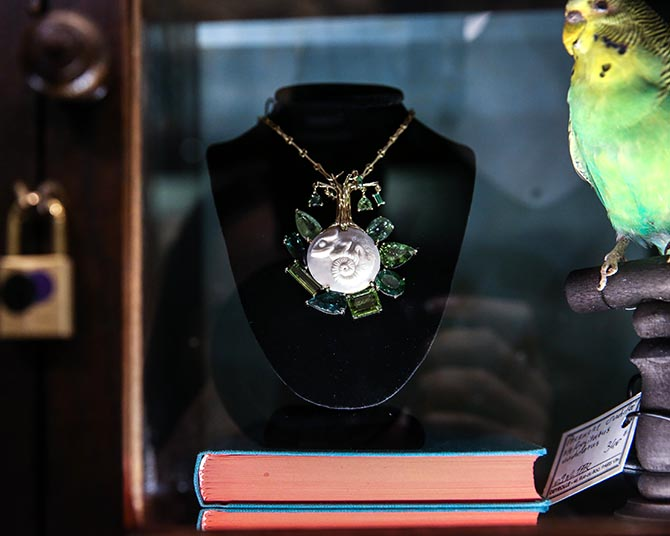 The Alfred Russell Wallace necklace from Daniela's Curiosity collection / Photo: BFA.