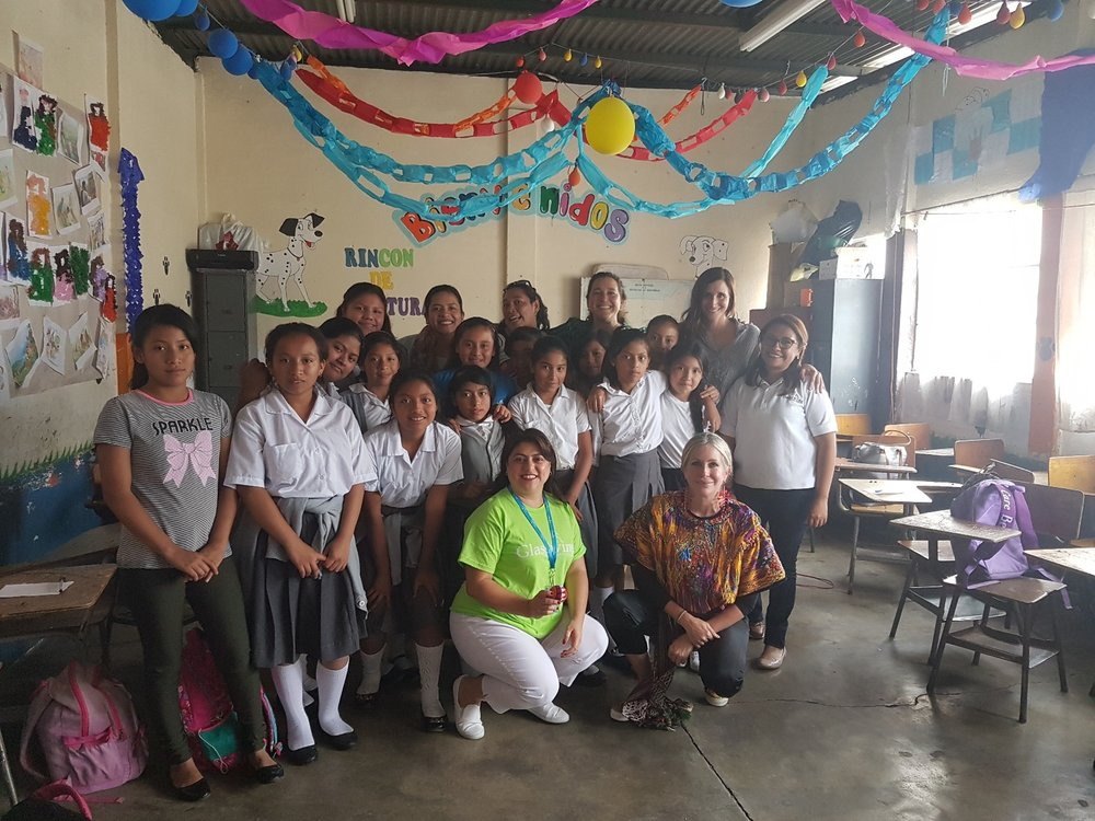 Carmen visiting one of the Glasswing Community Schools in Guatemala.