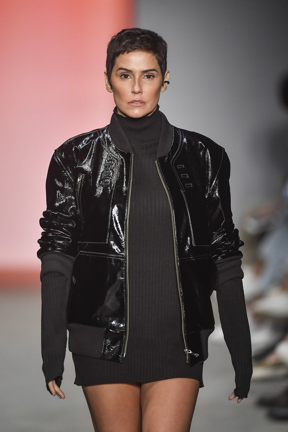 Actress Deborah Secco walked the runway for Torinno / Photo: Marcelo Soubhia.