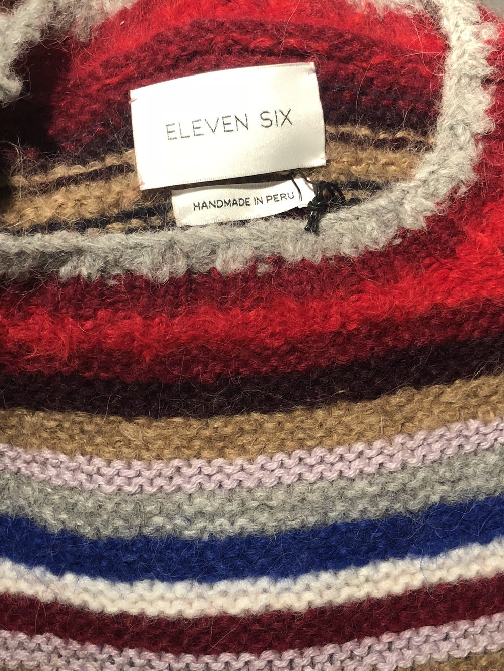 ELEVEN SIX is a women's knitwear brand designed in New York and sustainably produced in Peru and Bolivia by artisans.