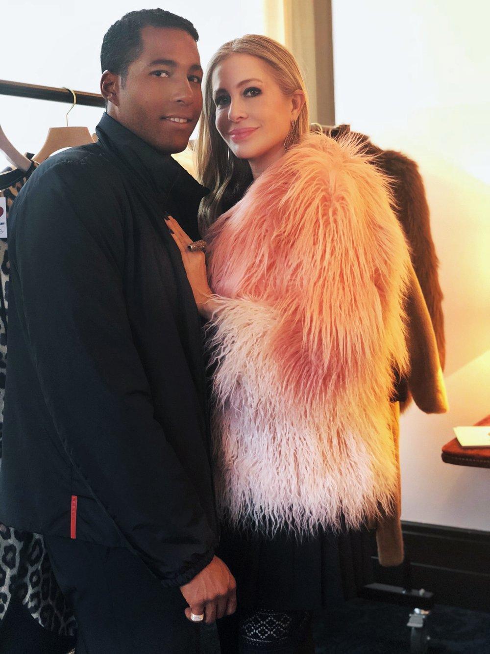 Carmen with MAISON-DE-MODE.COM's Hassan Pierre at last night's trunk show.