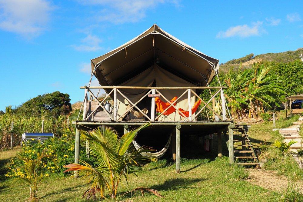 Mauritian eco-luxe glamping retreat Otenic River / Photo: Sarah Reid.