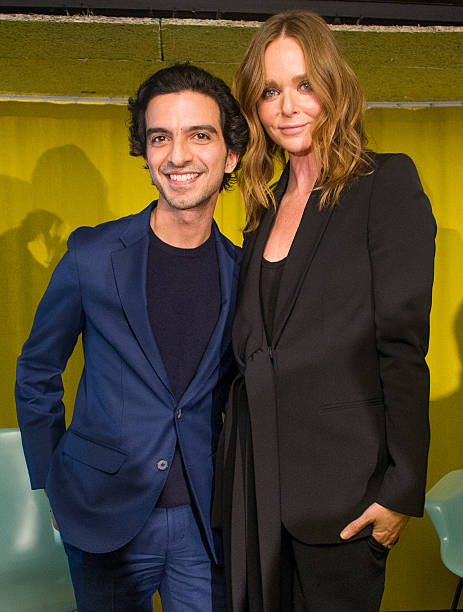 Stella McCartney pictured with Imran Amed at a BoF 'in conversation' event about her brand / Photo: Getty Images.